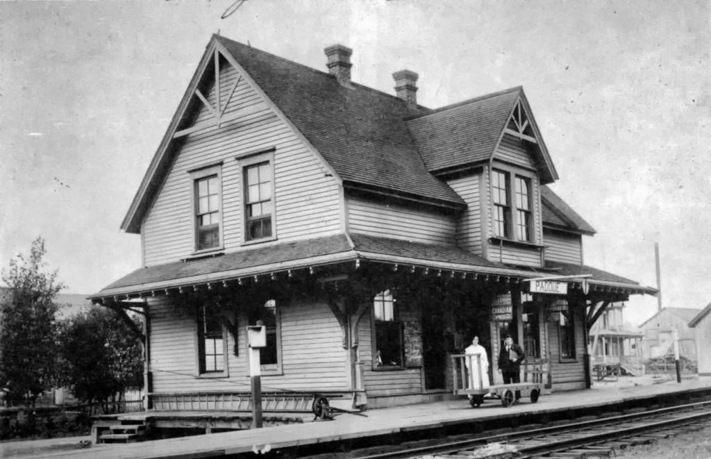 La gare au début du siècle dernier.