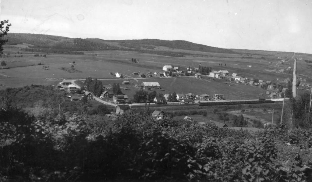 Le village de Padoue en 1950, juste avant l'incendie.