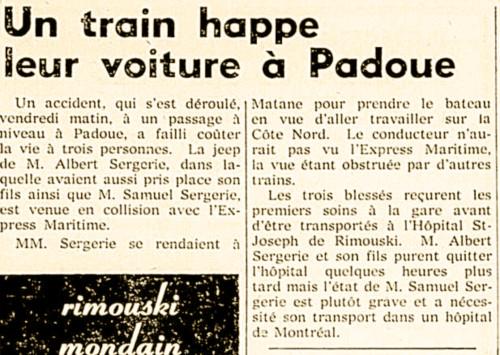Un train happe leur voiture à Padoue