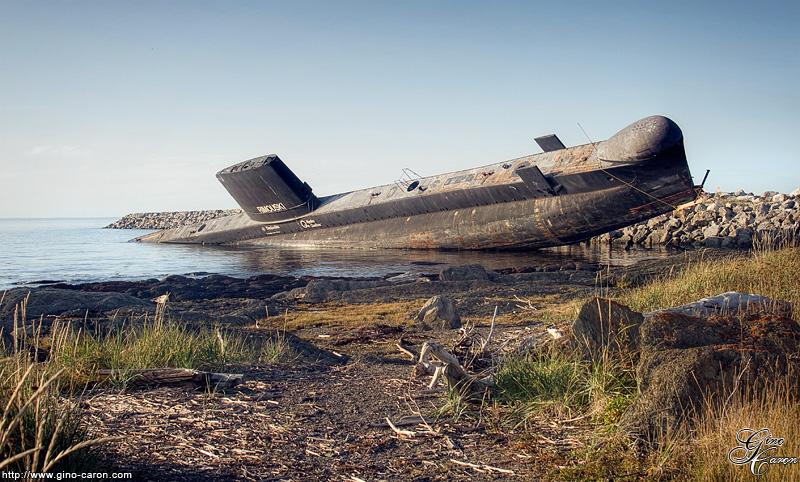 Le sous-marin penché…