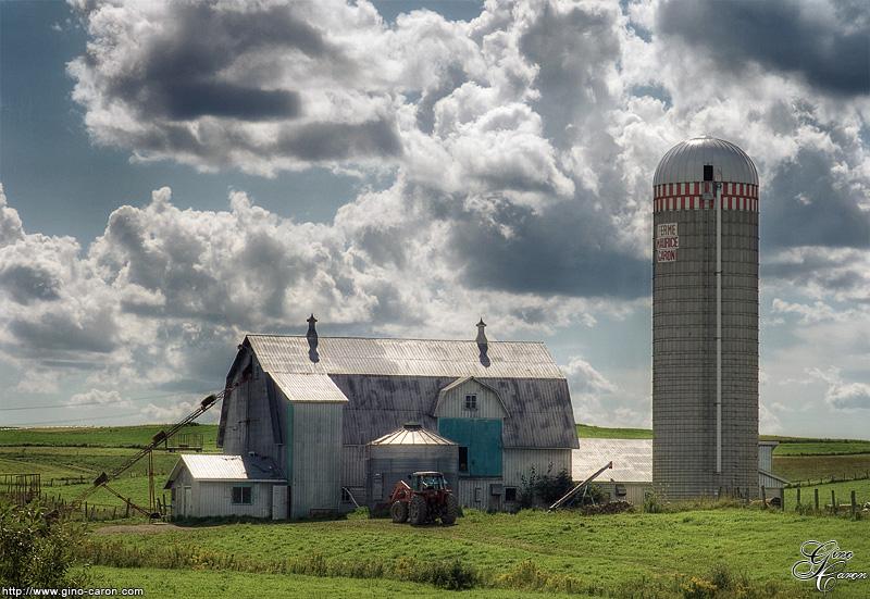 Une ferme en été