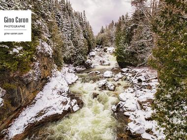 Rivière Neigette et neige