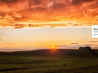 Coucher de soleil sur la campagne bas-laurentienne