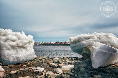 Entre 2 blocs de glace