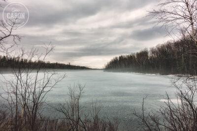 Glace sur le Lac Desrosiers