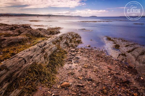 Sur la plage à Rimouski