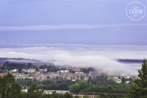 Plusieurs étages de brume