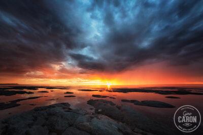 Un magnifique coucher de soleil