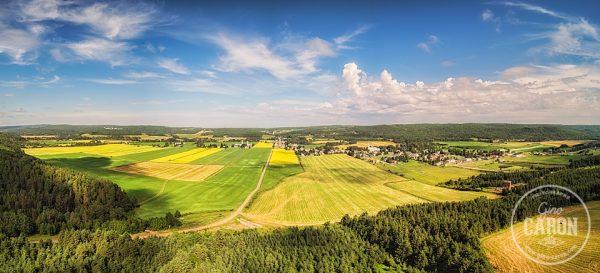 Panorama aérien rural II
