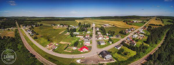 Le village de Padoue en panoramique