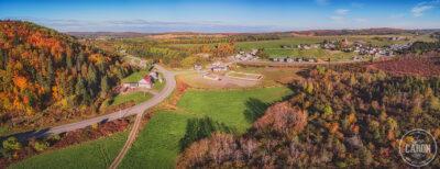 Village et couleurs d'automne
