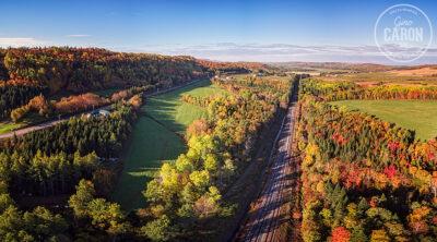 Le chemin de fer et l'automne