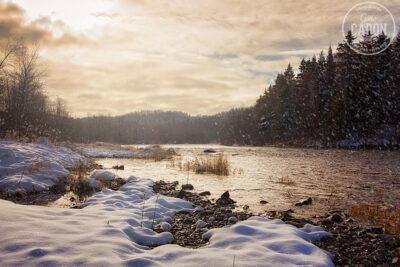 Rivière Rimouski et neige